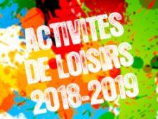 Activités 2018-2019 – Il reste de la place !