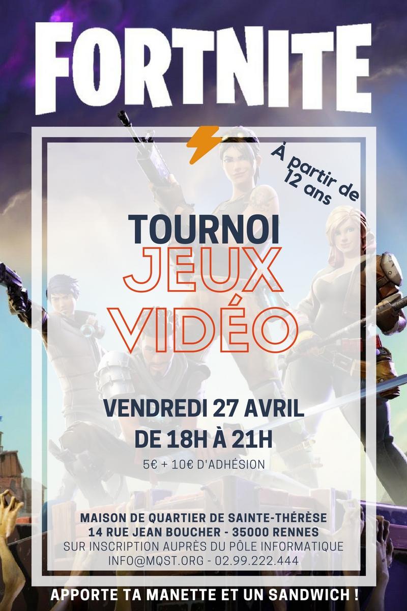 Vendredi 27 avril – Tournoi Jeux-vidéo