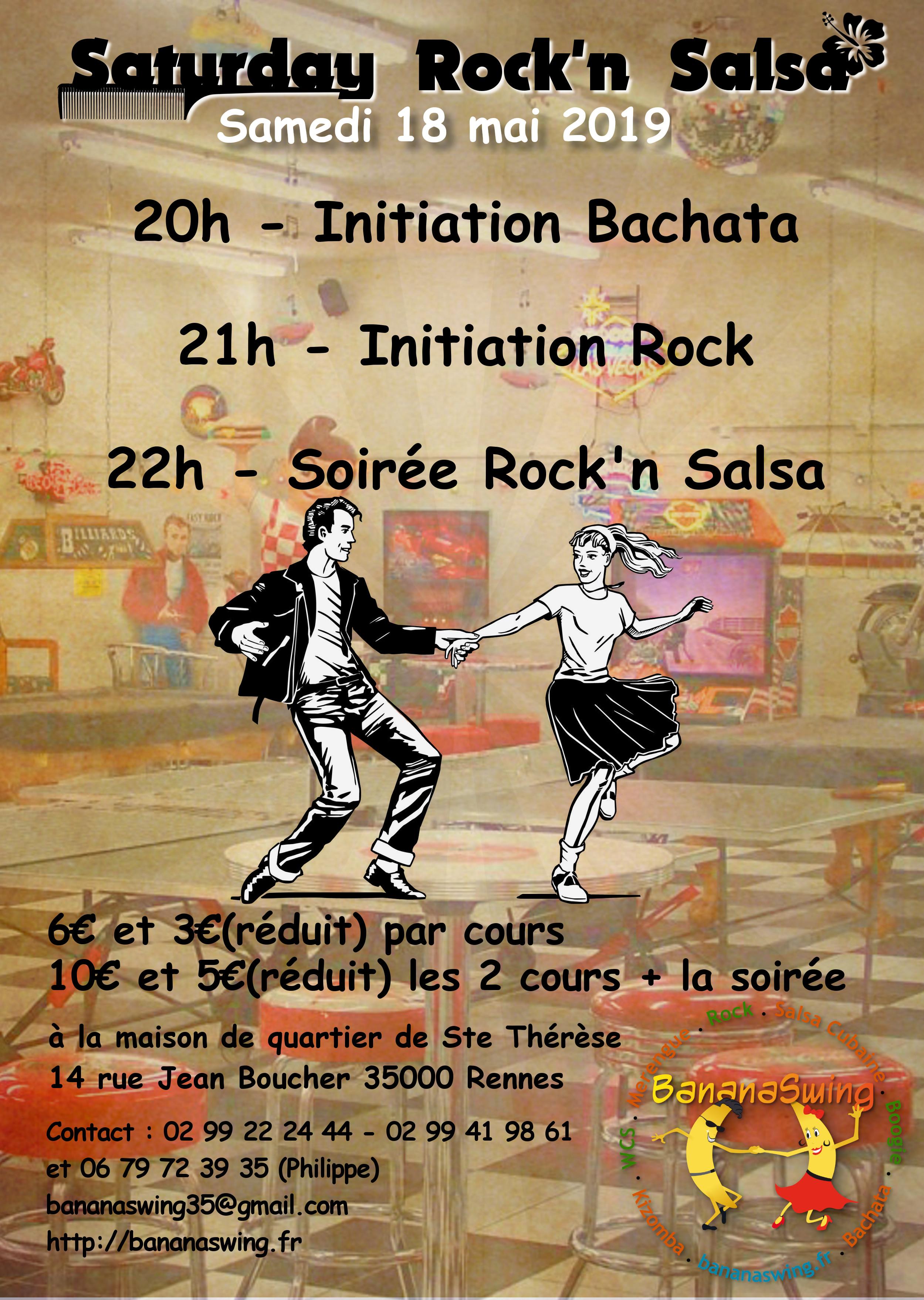 Samedi 18 mai – Soirée Rock'n Salsa